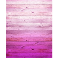 Magenta Ombre Wood Planks