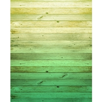 Emerald Ombre Wood Planks