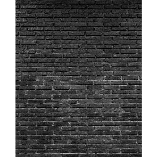 Black Brick Printed Backdrop