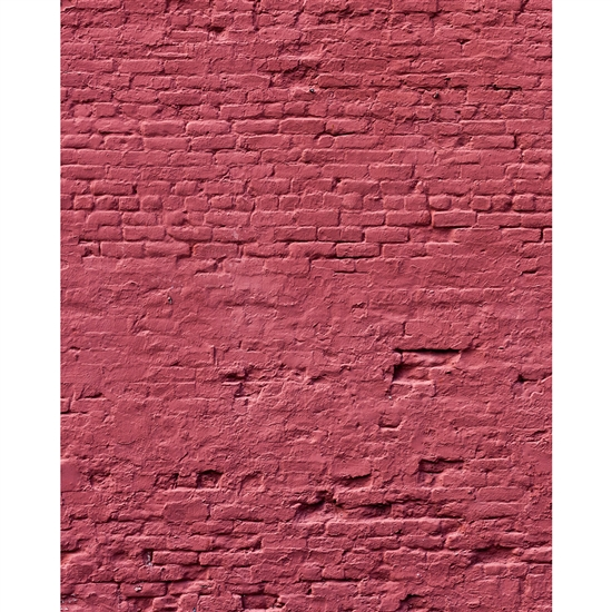 Weathered Rose Brick Printed Backdrop