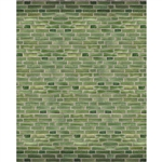 Emerald Brick Printed Backdrop