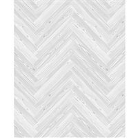 White Herringbone Planks Printed Backdrop