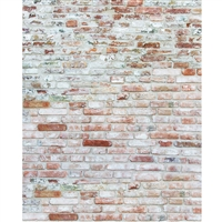 Whitewash Brick Printed Backdrop