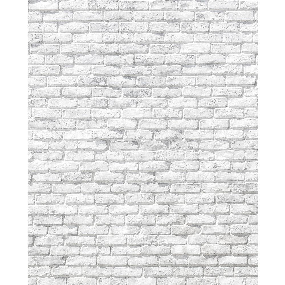 Worn White Brick Printed Backdrop | Backdrop Express