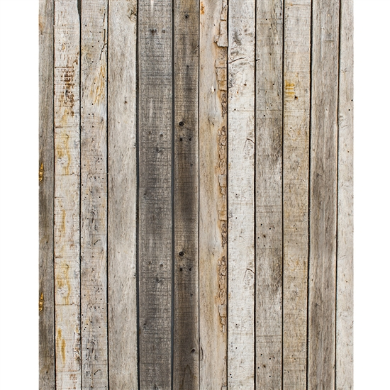 Aged Wood Printed Backdrop