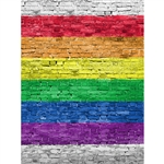 Rainbow Brick Printed Backdrop