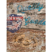 Brick Sign Wall Printed Backdrop
