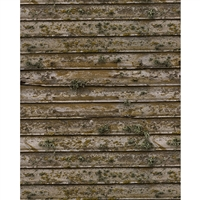 Distressed Moss Planks Printed Backdrop