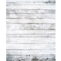 Wide White Planks Printed Backdrop - Vinyl - 5ft (w) x 9ft (h)