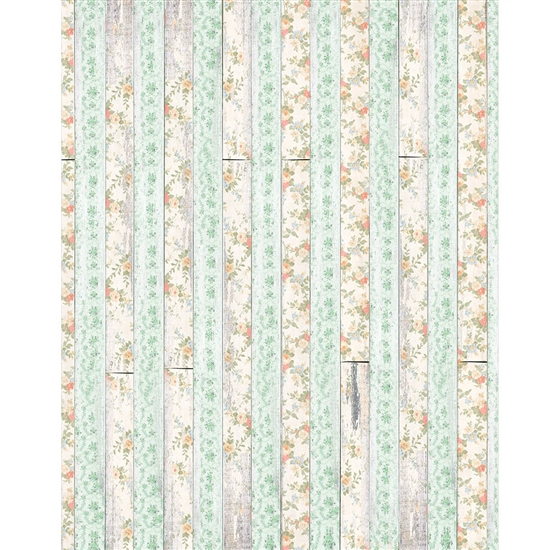 Mint Stripe Floral Planks