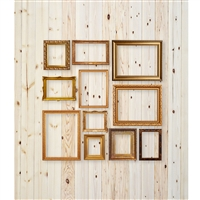 Frames on Pine Planks Printed Backdrop