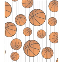 Basketball on White Planks