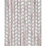 Distressed Mint Chevron Planks