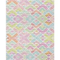Geometric Pastel Brick Printed Backdrop