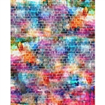 Color Splash Brick Printed Backdrop