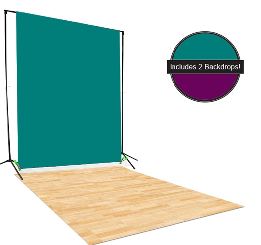 Teal & Purple Backdrop / Floordrop Set