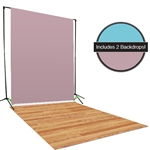 Teal & Pink Backdrop / Floordrop Set