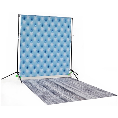 Steel Blue Tufted & Whitewash Printed / Floordrop Kit