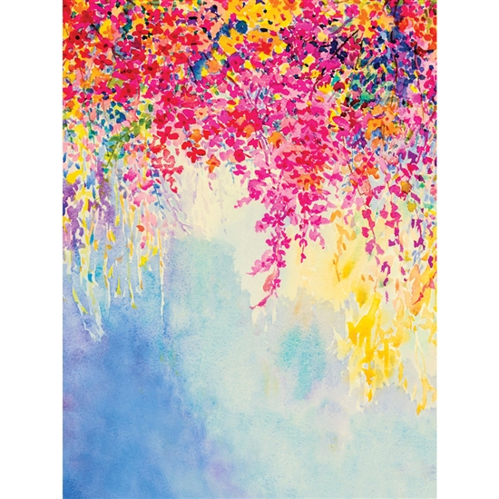 Cascading Flowers Printed Backdrop