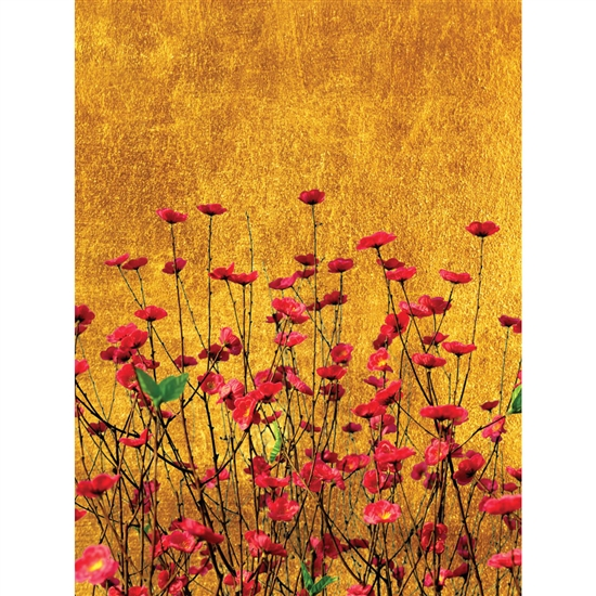 Red Flowers Printed Backdrop