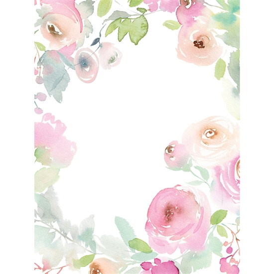 Flower Vignette Printed Backdrop