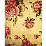 Grunge Roses Printed Backdrop