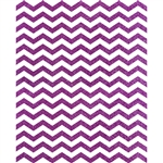 Magenta Glitter Chevron Printed Backdrop