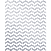 Silver Glitter Chevron Printed Backdrop