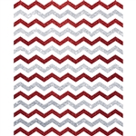 Silver and Red Glitter Chevron Printed Backdrop