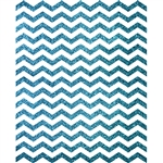 Teal Glitter Chevron Printed Backdrop