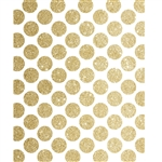 Gold Glitter Polka Dot Printed Backdrop