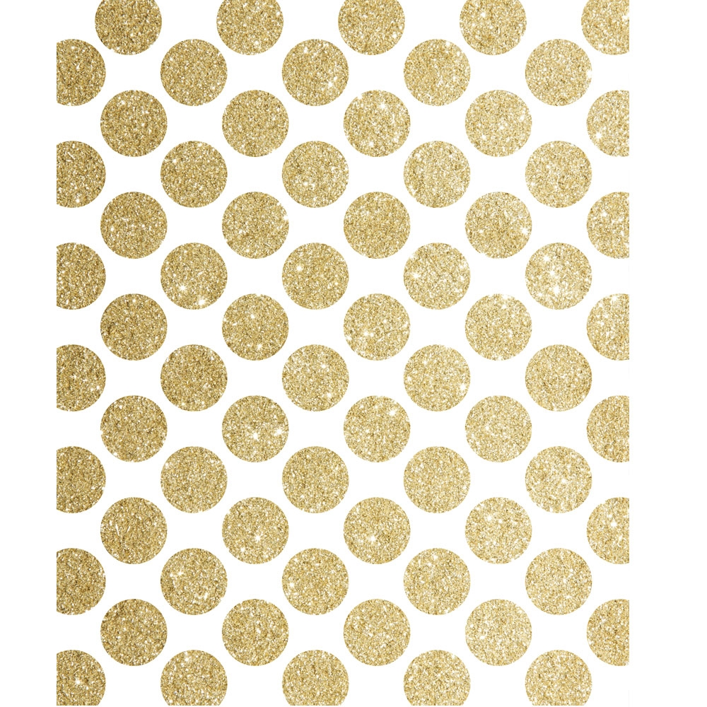Gold Glitter Polka Dot Printed Backdrop | Backdrop Express