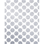 Silver Glitter Polka Dot Printed Backdrop