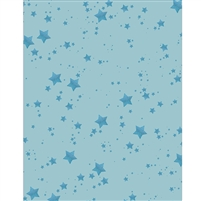 Blue Glitter Stars Printed Backdrop