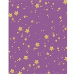 Purple and Gold Glitter Stars Printed Backdrop