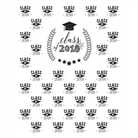 Graduation Step and Repeat Printed Backdrop