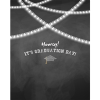 Hooray Graduate Printed Backdrop