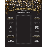 Grad Party Custom Printed Backdrop
