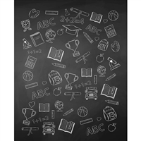 Chalk Supplies Printed Backdrop