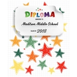 Kindergarten Diploma Printed Backdrop