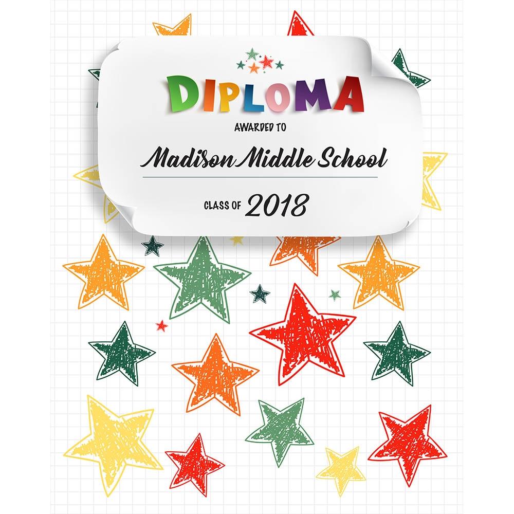 kindergarten diploma printed backdrop backdrop express