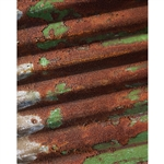 Rusted Metal Siding Printed Backdrop