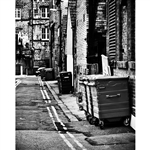 Black & White Alleyway Printed Backdrop