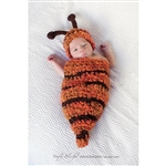 Bee Cocoon and Hat Set