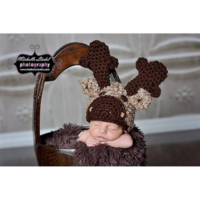 Moose Crochet Hat