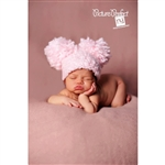 Puffy Poms Crochet Newborn Hat