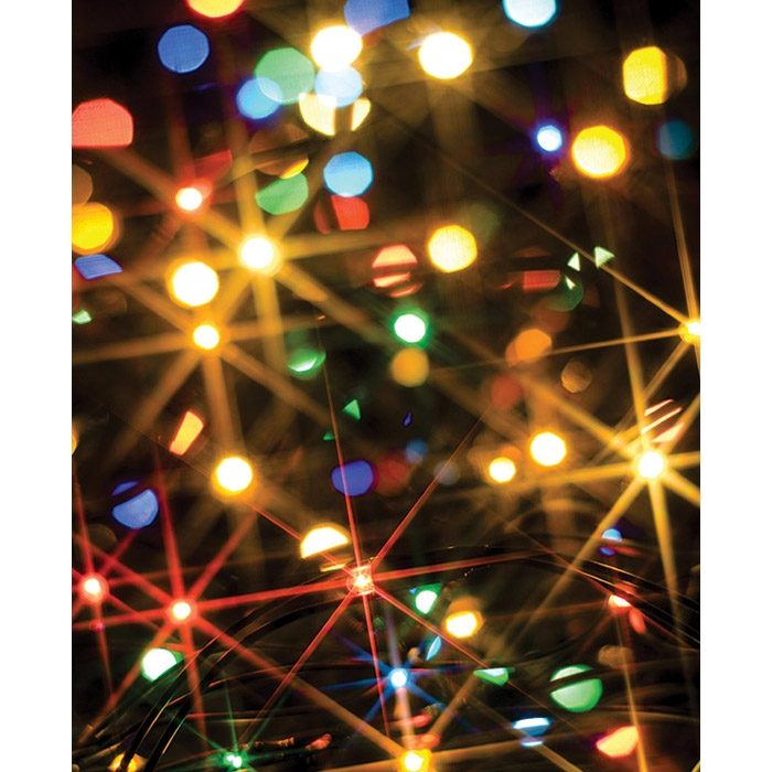 christmas lights printed backdrop - Amber Christmas Lights