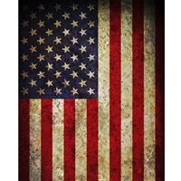 Vintage American Flag Printed Backdrop