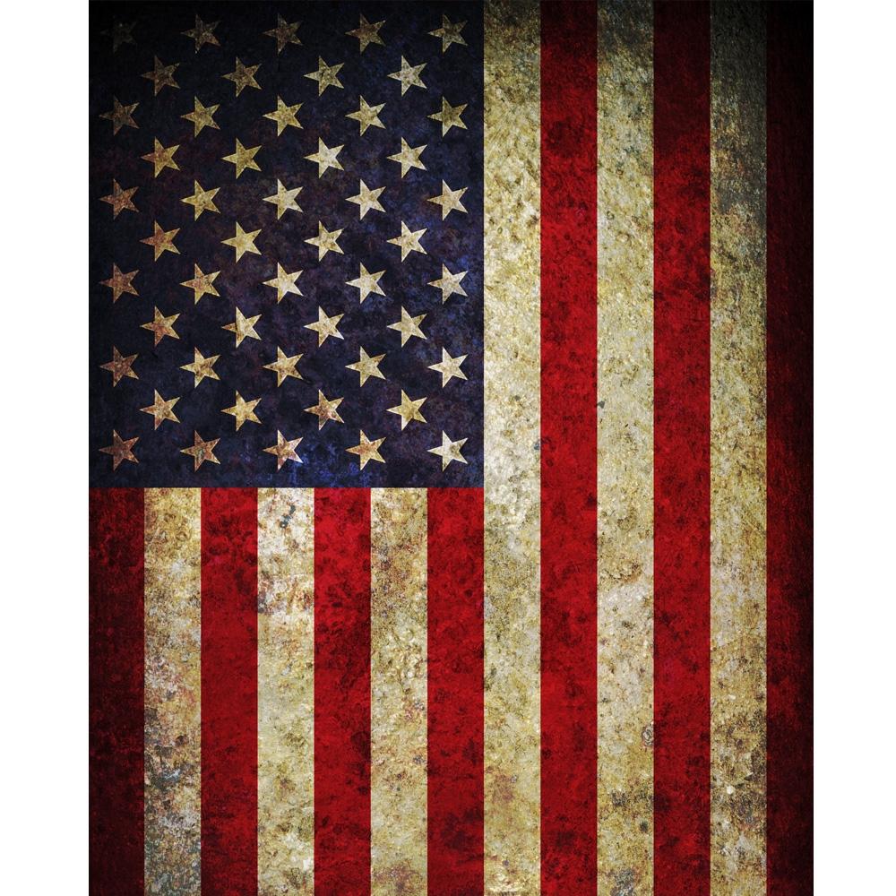 Vintage American Flag Printed Backdrop | Backdrop Express