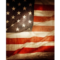 Grunge American Flag Printed Backdrop